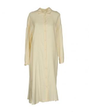 Платье до колена SUOLI. Цвет: слоновая кость