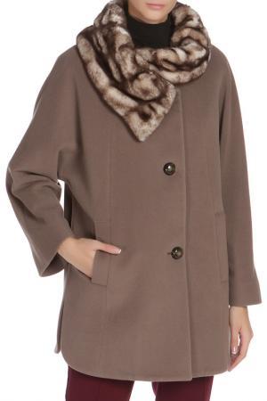 Свободное пальто с застежкой на пуговицы Cinzia Rocca. Цвет: кофейный