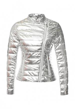 Куртка утепленная B.Style. Цвет: серебряный