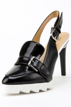 Босоножки на каблуках Rosa rot. Цвет: черный
