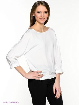 Блузка INCITY. Цвет: белый