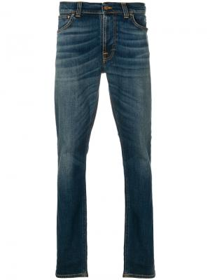 Slim-fit jeans Nudie Co. Цвет: синий