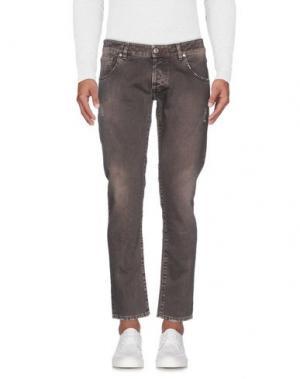 Джинсовые брюки TELERIA ZED. Цвет: голубиный серый