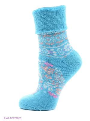 Новогодние носки HOSIERY. Цвет: голубой, фиолетовый, белый