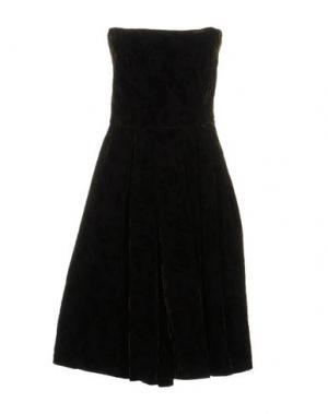 Короткое платье JIJIL. Цвет: темно-коричневый