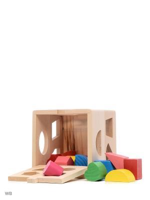 Куб с формами Винтик и Шпунтик. Цвет: бежевый
