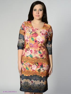 Платье MAFUERTA. Цвет: фуксия, желтый, темно-синий