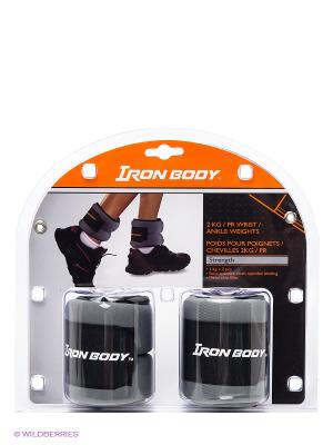 Утяжелители для рук и ног Iron Body. Цвет: антрацитовый