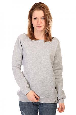 Толстовка классическая женская  Springly Jacket Heather Grey Emblem. Цвет: серый