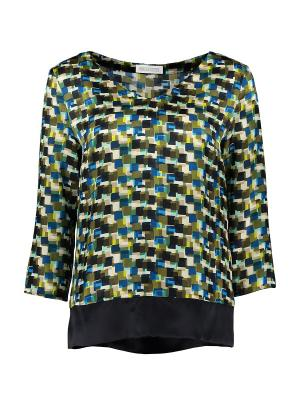 Блуза St.Emile. Цвет: темно-зеленый