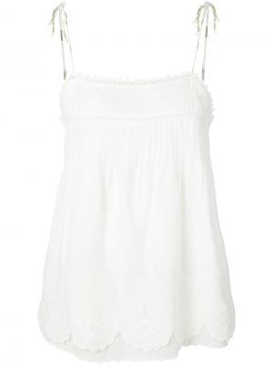 Блуза с фестонами Joie. Цвет: белый