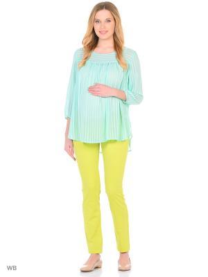 Блузка EUROMAMA. Цвет: зеленый