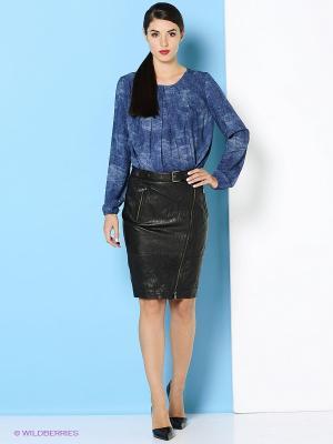 Блузка Trussardi. Цвет: синий