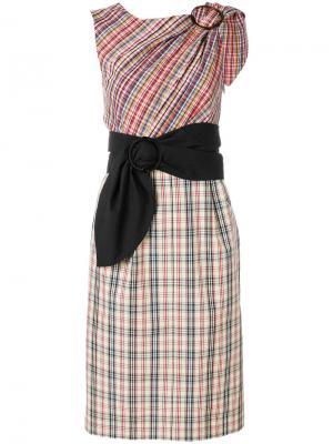 Платье в клетку Isa Arfen. Цвет: телесный
