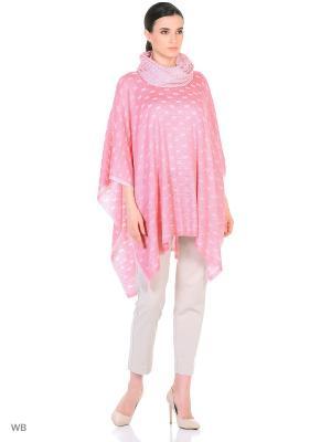 Пончо Veronika Style. Цвет: розовый