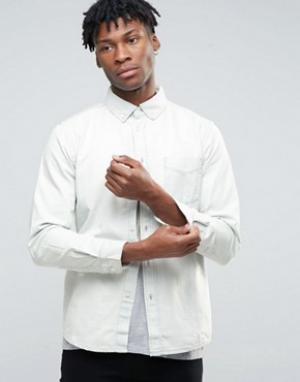 Hoxton Denim Выбеленная джинсовая рубашка. Цвет: синий