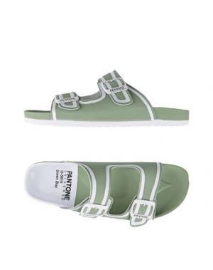 Сандалии PANTONE UNIVERSE FOOTWEAR. Цвет: зеленый-милитари
