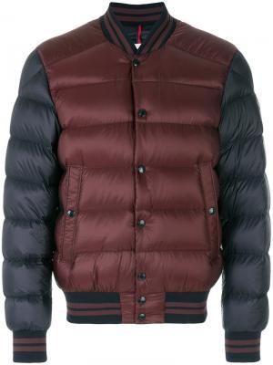 Двухцветная куртка-бомбер Moncler. Цвет: розовый и фиолетовый