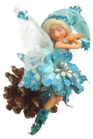 Фея на шишке Davana. Цвет: голубой