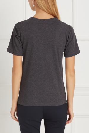 Хлопковая футболка BLANK.MOSCOW. Цвет: антрацит