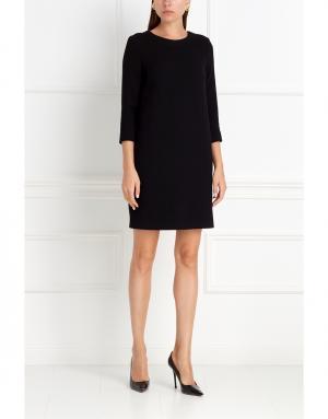 Платье из шерсти и шелка NATALIA GART. Цвет: черный