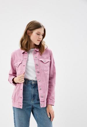 Куртка джинсовая Only. Цвет: розовый