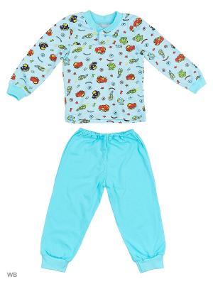 Пижамы KIDONLY. Цвет: голубой