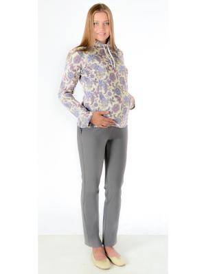 Брюки для беременных серый ёлочка Ням-Ням. Цвет: серый