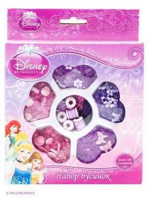 Набор бусинок  Disney принцессы, более 180 деталей Multiart. Цвет: розовый, темно-бежевый