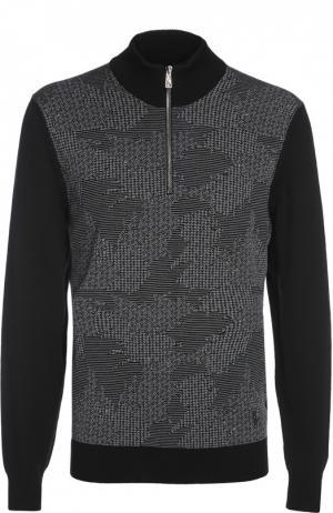 Вязаный свитер Billionaire. Цвет: черный
