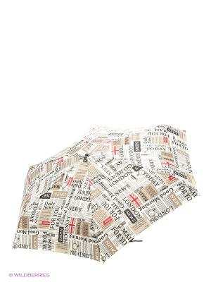 Зонт Isotoner. Цвет: белый, черный, красный