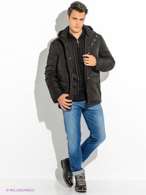 Куртка Finn Flare. Цвет: темно-коричневый