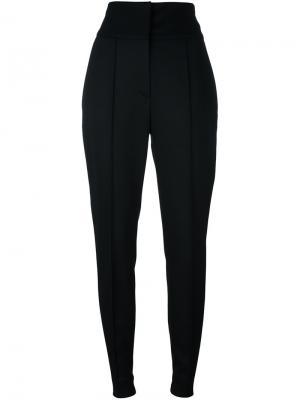 Плиссированные зауженные брюки Alexandre Vauthier. Цвет: чёрный