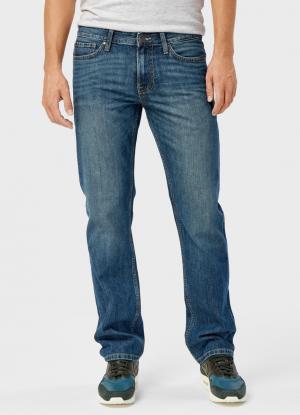 Базовые прямые джинсы OSTIN. Цвет: светло-синий