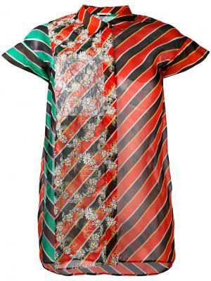 Striped shortsleeve shirt Marco De Vincenzo. Цвет: многоцветный