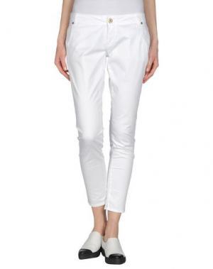 Повседневные брюки QUEEN of LOVE. Цвет: белый