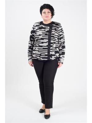 Блузка женская Пиджак классик Полное счастье. Цвет: черный, серый