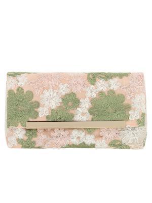 Клатч BLAGOY ART. Цвет: бледно-розовый, белый, зеленый