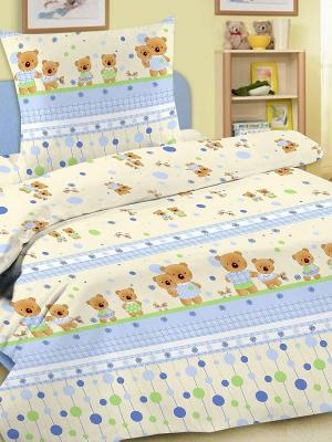 Комплект в кроватку Letto Ясли BG-15, бязь. Цвет: голубой