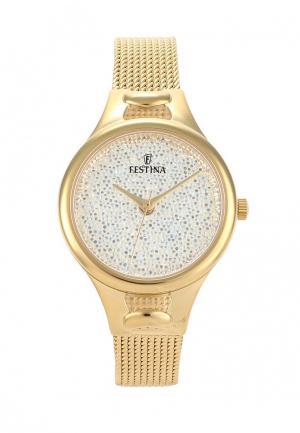 Часы Festina. Цвет: золотой