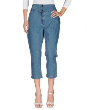 Джинсовые брюки VANESSA BRUNO ATHE'. Цвет: синий