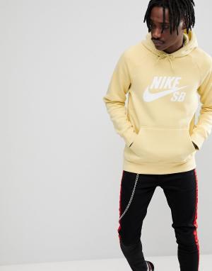 Nike SB Худи желтого цвета 846886-721. Цвет: желтый