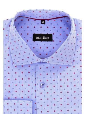 Рубашка BERTHIER. Цвет: голубой, красный