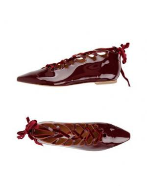 Балетки MIISTA. Цвет: красно-коричневый