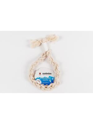 Плетеное кольцо для крупных-собак из х-б веревки 40см Zoobaloo. Цвет: белый
