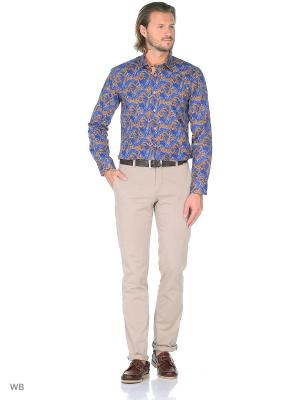 Рубашка Venturo. Цвет: синий, оранжевый