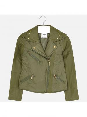 Куртка Mayoral. Цвет: хаки