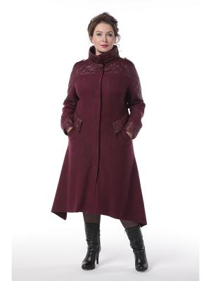 Пальто DizzyWay. Цвет: сливовый