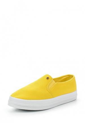 Слипоны Ideal Shoes. Цвет: желтый