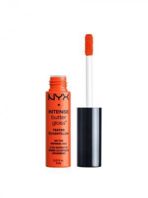 Увлажняющий блеск для губ. INTENSE BUTTER GLOSS - ORANGESICLE NYX PROFESSIONAL MAKEUP. Цвет: оранжевый